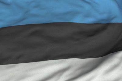 Estonian Flag  is a tricolour featuring three equal horizontal bands of blue, black and white