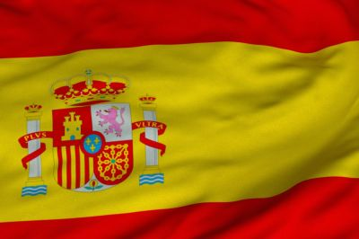 The flag of Spain consists of three horizontal stripes: red, yellow and red