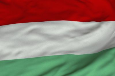 The flag of Hungary is a horizontal tricolour of red, white and green